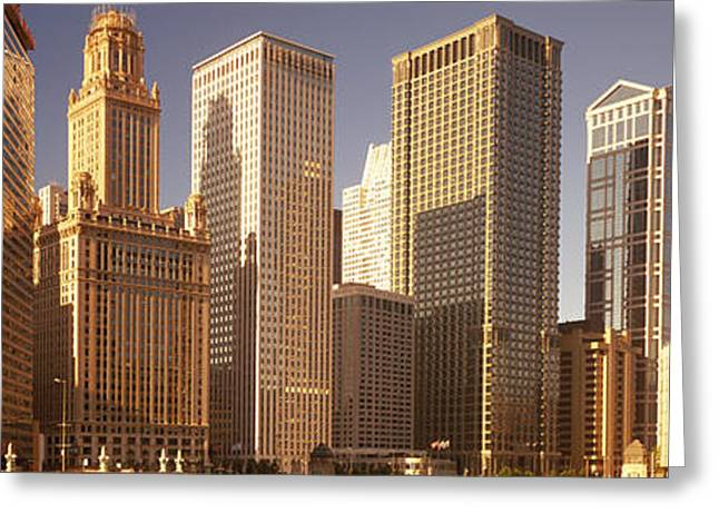 Cityscape Chicago Il Usa Greeting Card