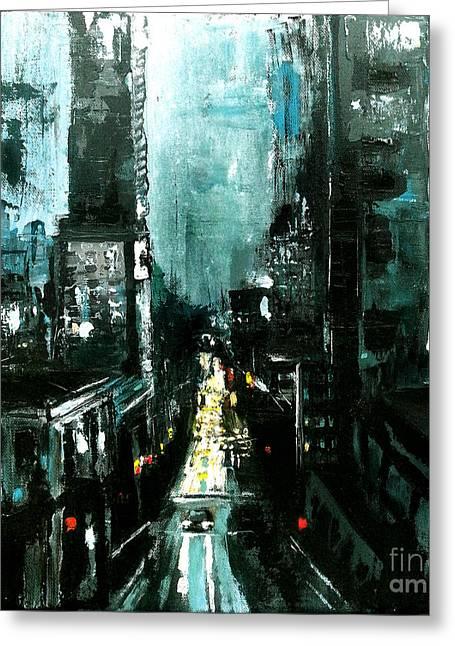 Cityscape  Greeting Card by Maja Sokolowska