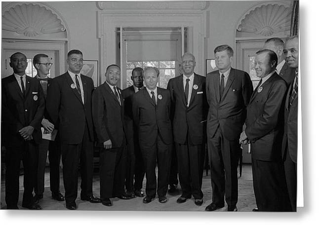 Civil Rights Leaders Meet Greeting Card