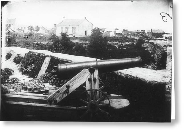 Civil War Cannon, 1862 Greeting Card by Granger