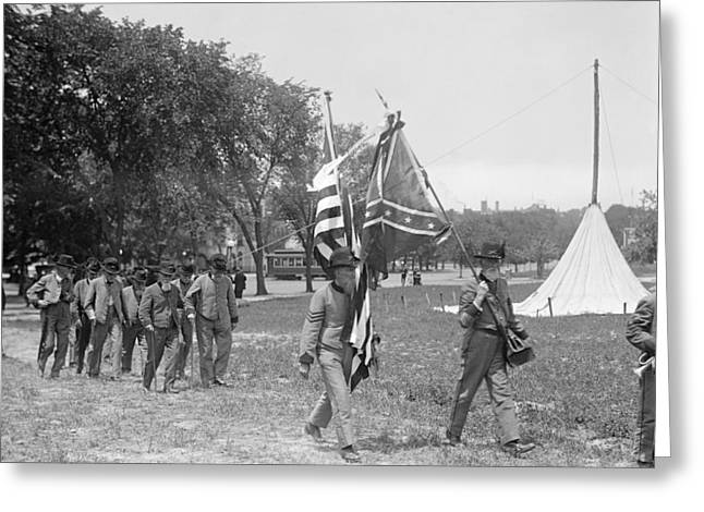 Civil War Reunion, 1917 Greeting Card by Granger