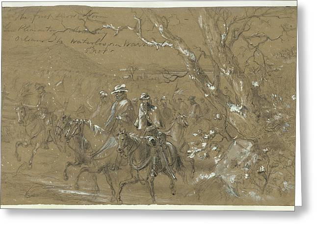 Civil War Warrenton, 1862 Greeting Card by Granger