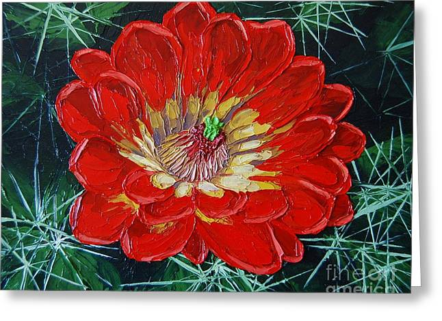 Claret Cup Greeting Card