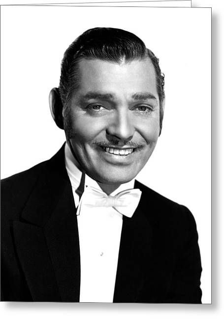 Clark Gable Greeting Card by Silver Screen