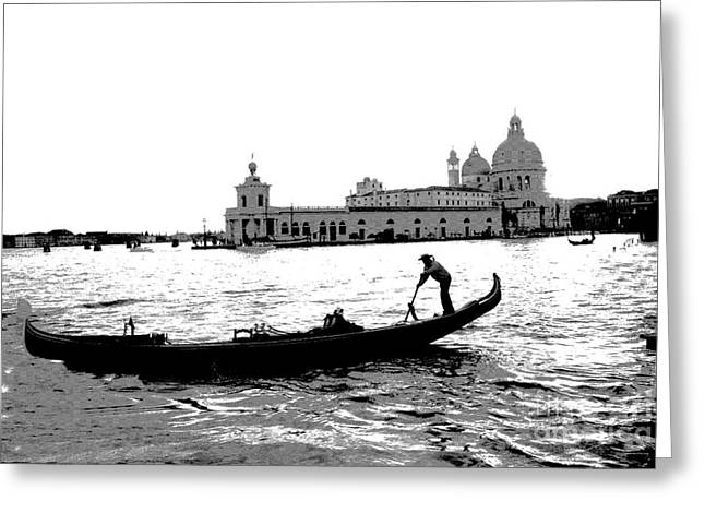 Classic Venice Greeting Card by Jacqueline M Lewis