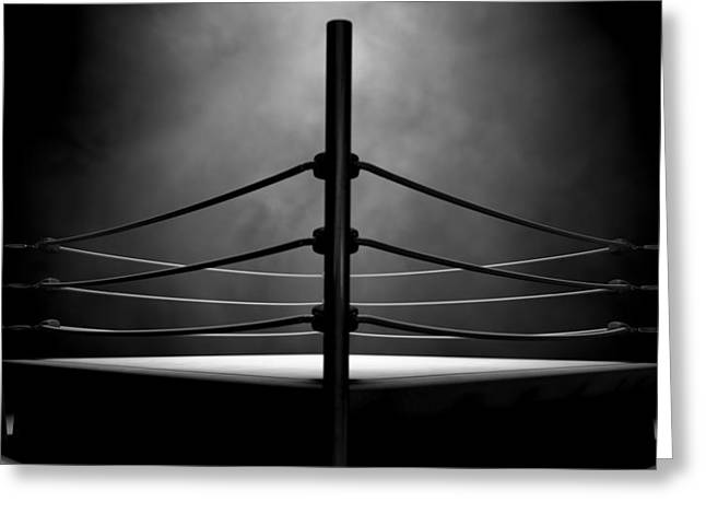 Classic Vintage Boxing Ring Greeting Card by Allan Swart