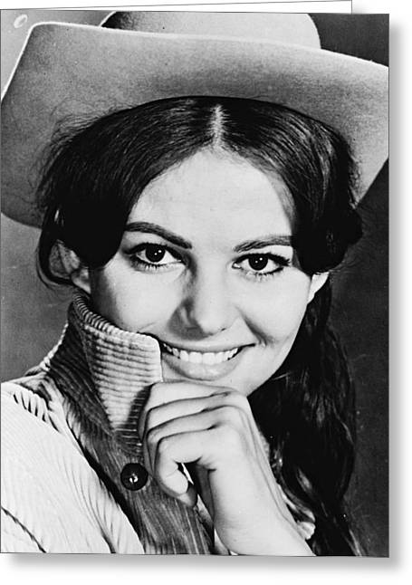 Claudia Cardinale In Circus World  Greeting Card