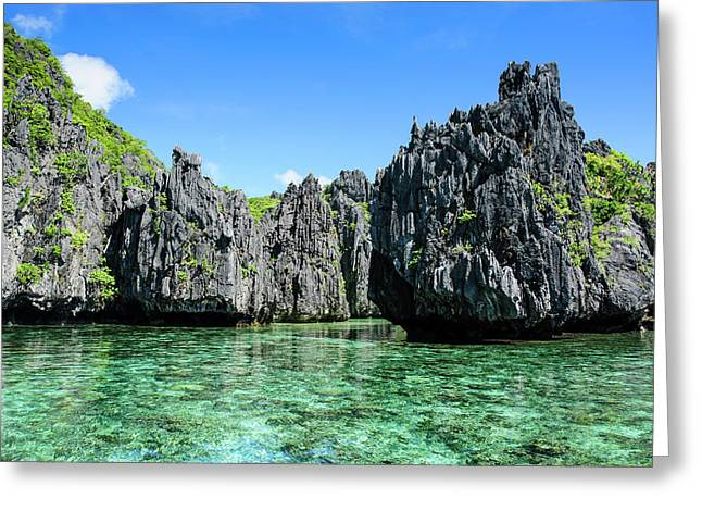 Clear Water In The Bacuit Archipelago Greeting Card by Michael Runkel