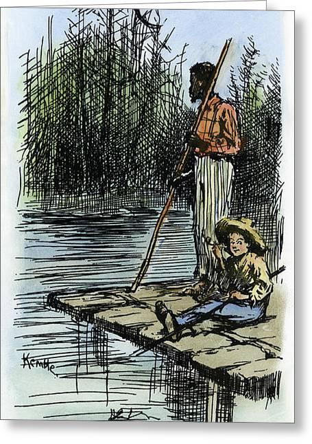 Clemens Huck Finn, 1885 Greeting Card by Granger