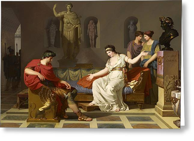Cleopatra And Octavian Greeting Card by Mountain Dreams