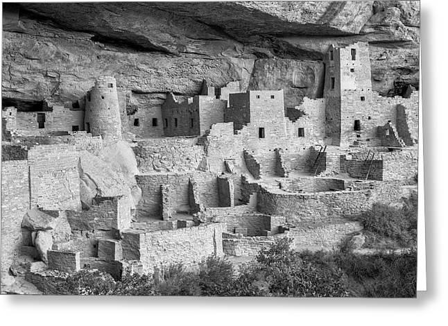 Cliff Palace, Mesa Verde, Colorado, Usa Greeting Card by John Ford