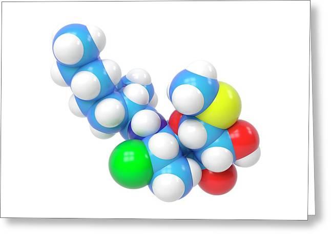 Clindamycin Antibiotic Molecule Greeting Card