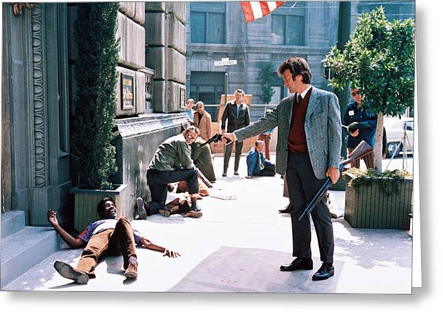 Clint Eastwood In Dirty Harry  Greeting Card by Silver Screen