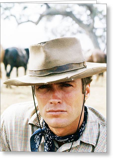 Clint Eastwood In Rawhide  Greeting Card