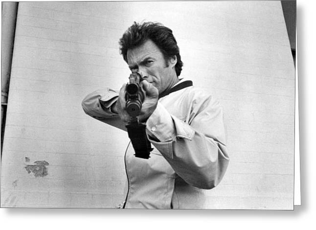 Clint Eastwood In The Enforcer  Greeting Card by Silver Screen