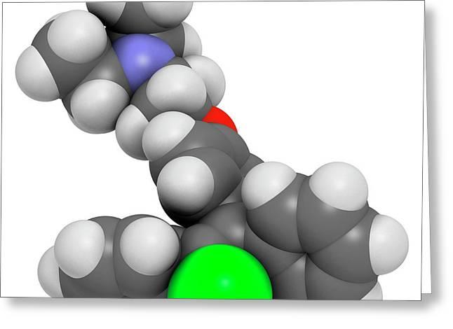 Clomifene Ovulation Inducing Drug Greeting Card by Molekuul