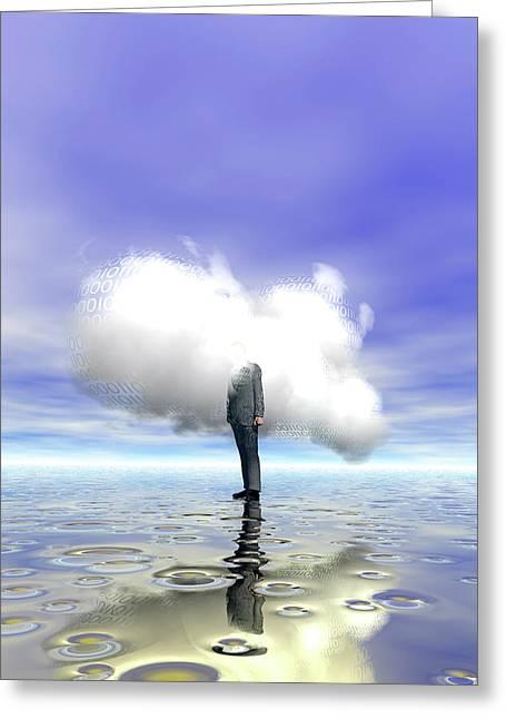 Cloud Computing Greeting Card by Carol & Mike Werner