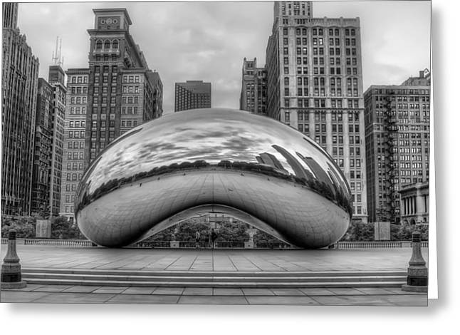 Cloud Gate In The Park Greeting Card by Noah Katz