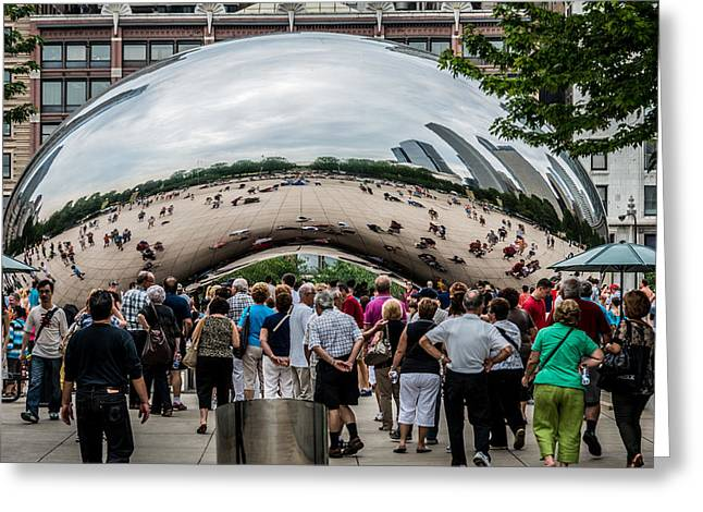 Greeting Card featuring the photograph Cloud Gate by James Howe