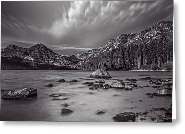 Cloud Movement Over Emerald Bay Greeting Card by Marc Crumpler