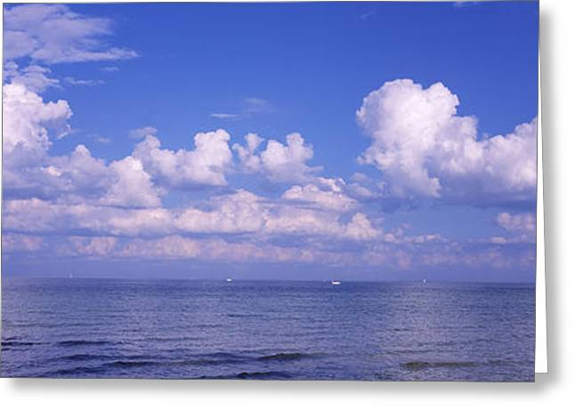 Clouds Over The Sea, Tampa Bay, Gulf Of Greeting Card