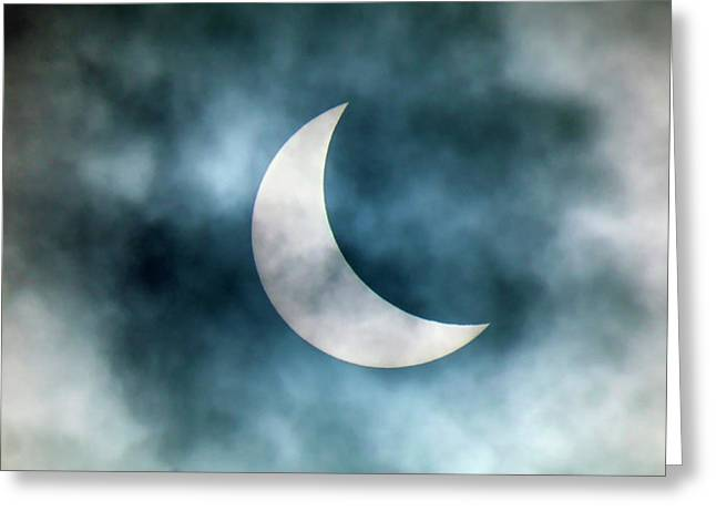 Cloudy Solar Eclipse Greeting Card