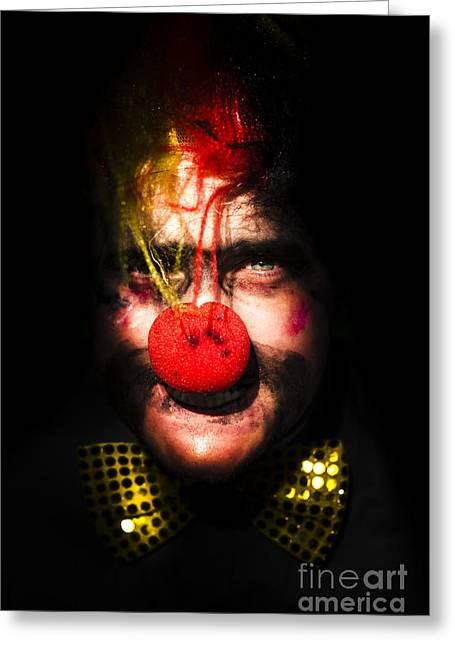 Clown Greeting Card by Jorgo Photography - Wall Art Gallery