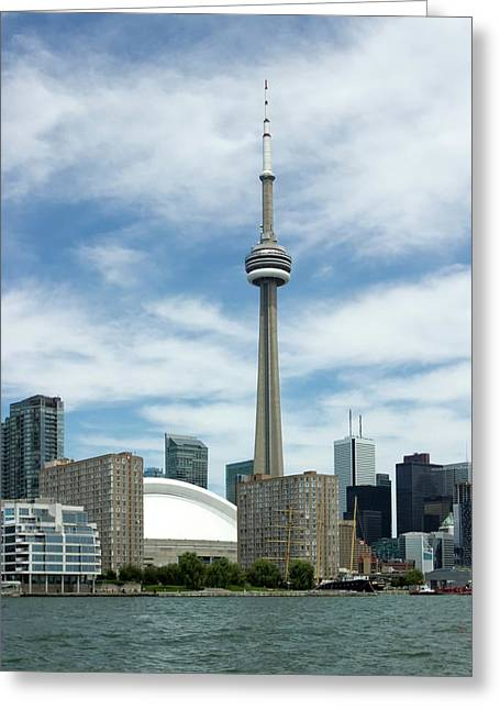 Cn Tower Greeting Card by Victor Habbick Visions