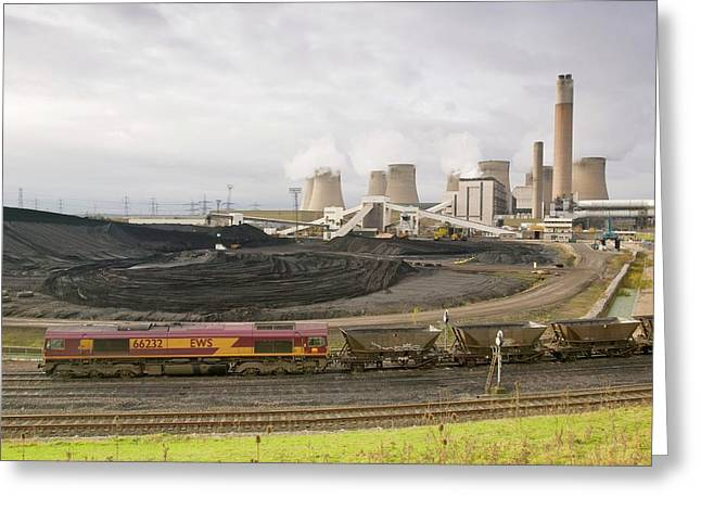 Coal Fired Power Station Greeting Card by Ashley Cooper