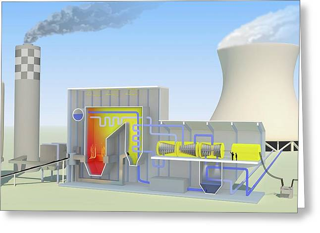Coal-fired Power Station Greeting Card