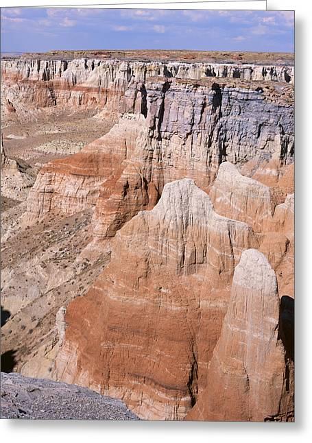 Coal Mine Canyon 1-v Greeting Card