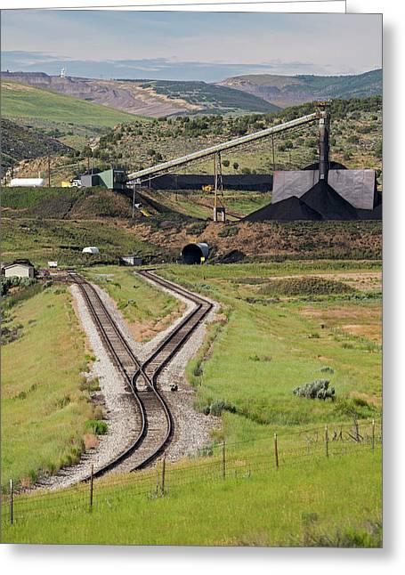 Coal Mine Rail-loading Facility Greeting Card by Jim West