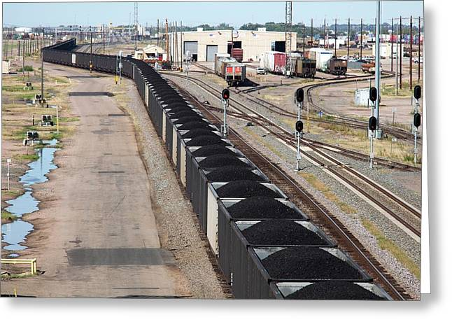 Coal Train Greeting Card by Jim West