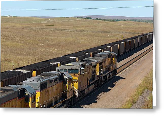 Coal Trains Greeting Card by Jim West
