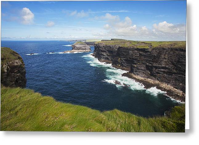 Coast Near Kilkee_ County Clare, Ireland Greeting Card by Carl Bruemmer