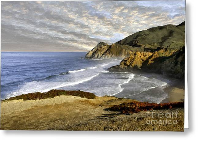 Coastal Beauty Impasto Greeting Card