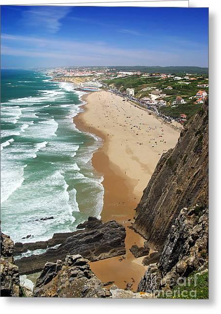 Coastal Cliffs Greeting Card by Carlos Caetano