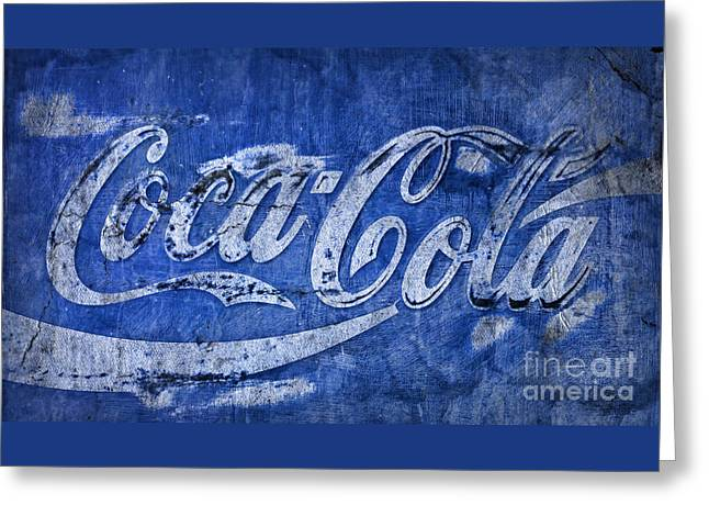 Coca Cola Blues Greeting Card by John Stephens
