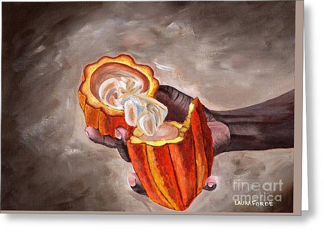 Cocoa Pod In Hand Greeting Card