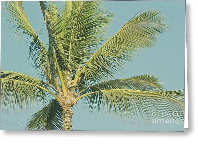 Cocos Nucifera - Niu - Palma - Po'olenalena Beach Maui Hawaii Greeting Card by Sharon Mau