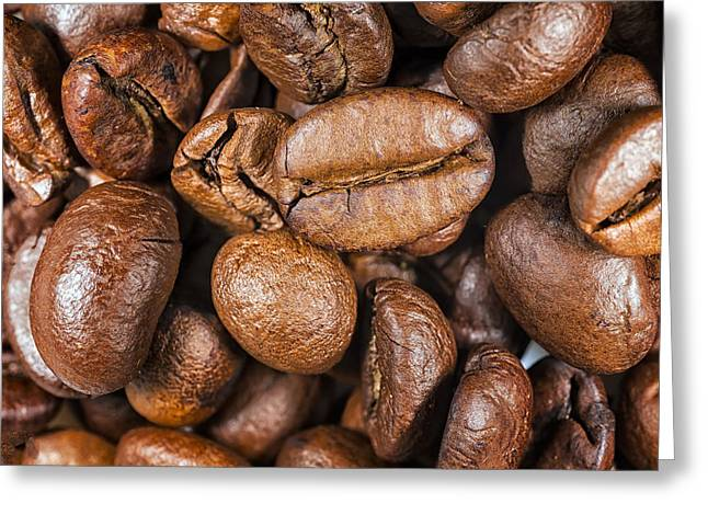 Coffee Beans Detail Greeting Card