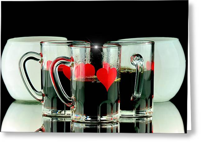 Coffee Shots Greeting Card by Tommytechno Sweden