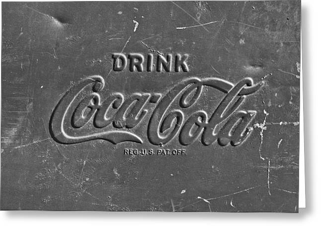 Coke Sign Greeting Card by Jill Reger