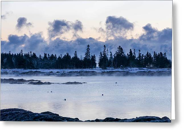 Cold Day Down East Maine Greeting Card