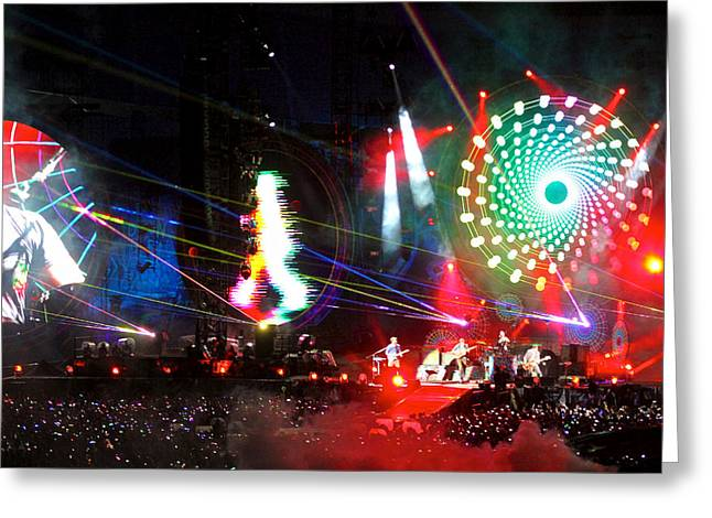 Coldplay - Sydney 2012 Greeting Card