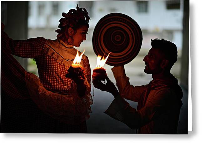Colombian Traditional Dances Greeting Card