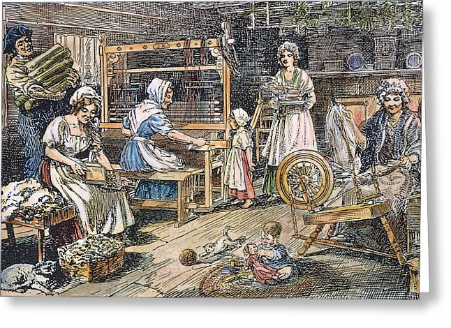 Colonial Cloth Makers Greeting Card