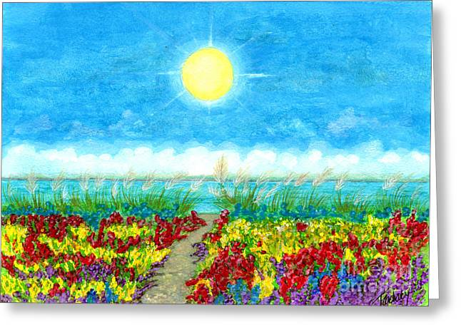 Color Path Greeting Card by Tina Zachary