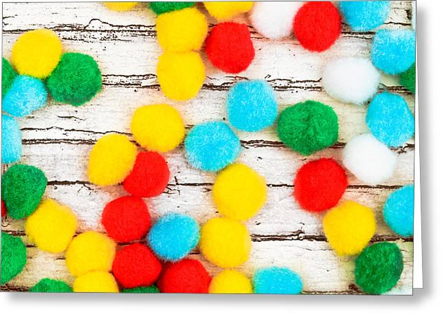Colorful Bonbons Greeting Card by Tom Gowanlock