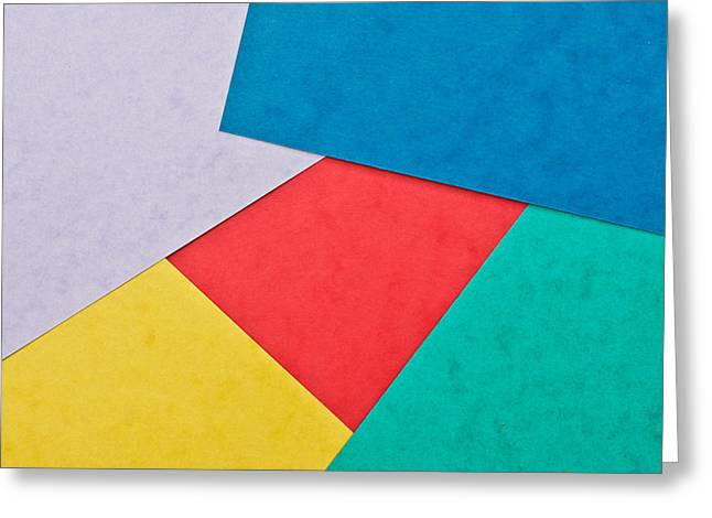 Colorful Card Greeting Card by Tom Gowanlock